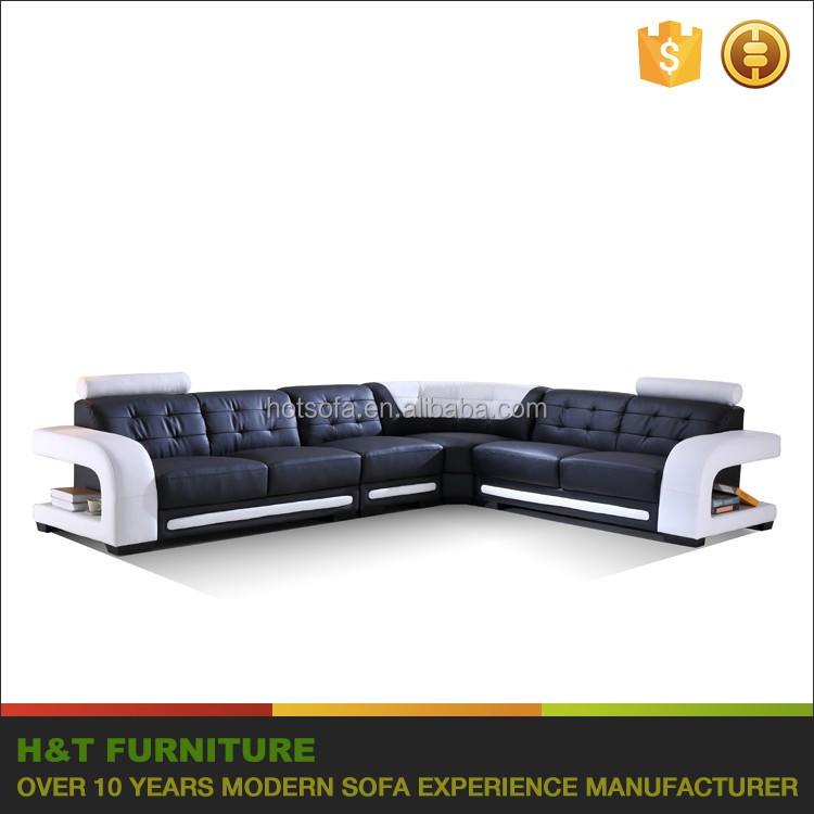 Living Room Furniture Corner Sofa Set Designs Genuine Leather Couch Product On
