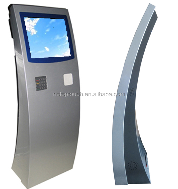 Vertical Bank Self-service Advertising Kiosk