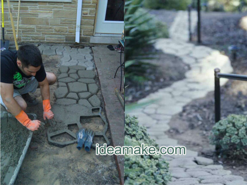 DIY Garden Concrete Slab Molds-DIY your garden and pave ways