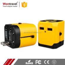 CE ROHS FCC Active Universal Electric Anniversary Travel Adapter With Usb 250v to 110v plug Charger For Uk Usa