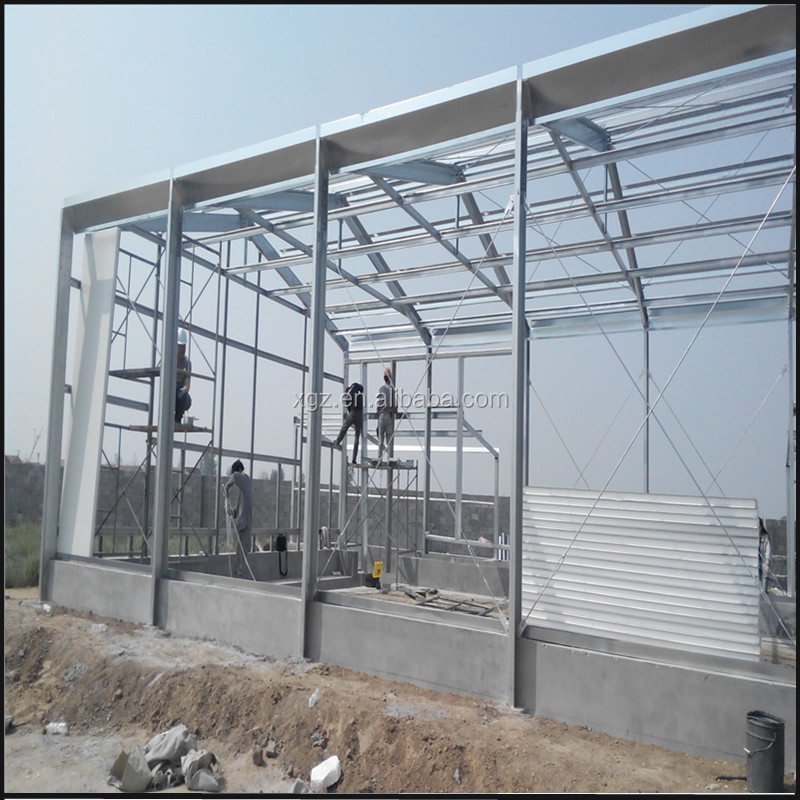 Steel Structure Poultry Broiler House with equipments build in Ecuador