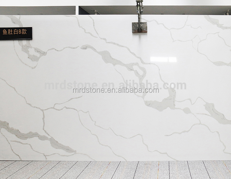 China Artificial White Calacatta Quartz Stone