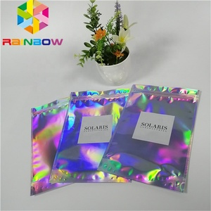 factory sale smell proof 3.5g stand up mylar ziplock weed mylar packaging mini holographic cookies bags
