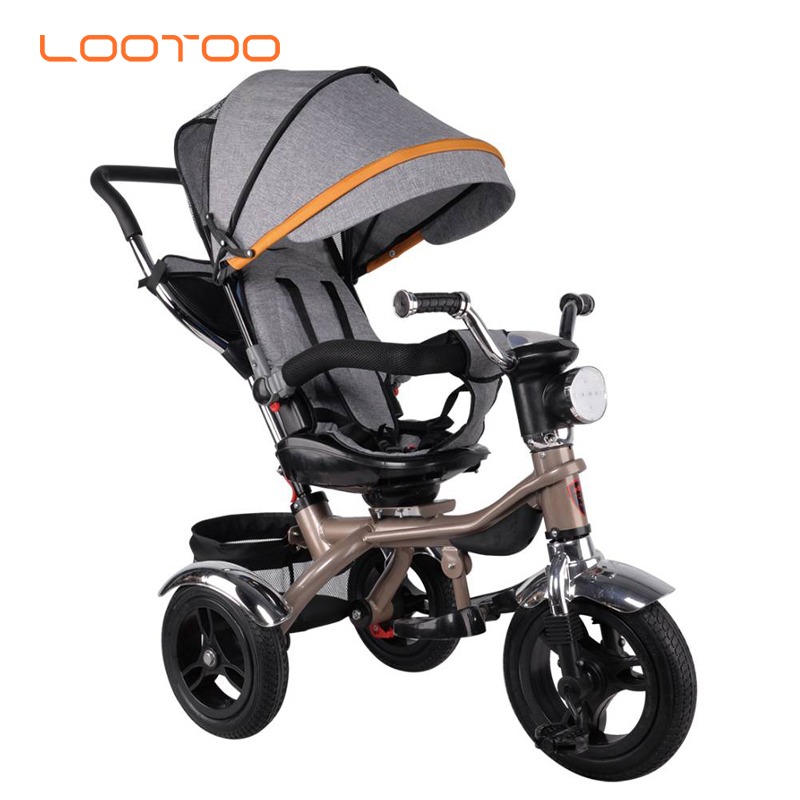 EN standard factory wholesale cheap plastic ride on baby tricycle 4 year old car type kids pedal trike with coloful tyre on sale