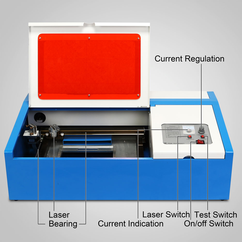 40W CO2 3d laser engraving machine price, stone engraving machine, 3d photo crystal laser engraving machine