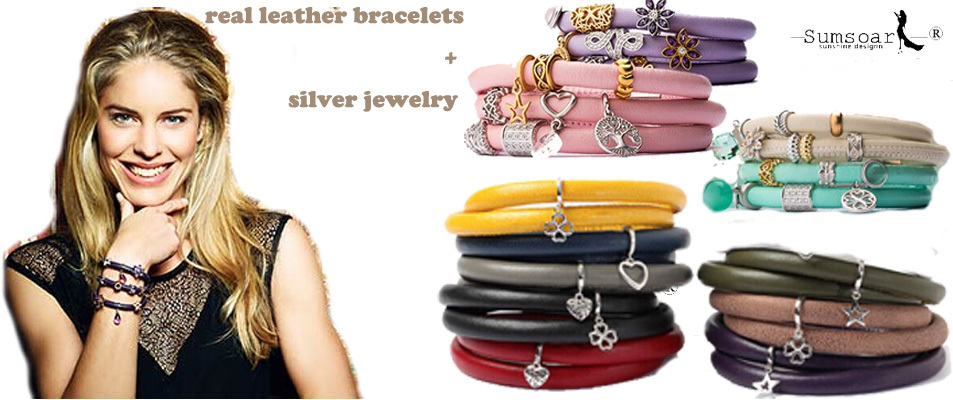 Real Leather Bracelet With Stainless Steel Magnetic Lock For Endless Jewelry