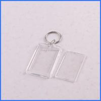 Promotion custom blank acrylic photo frame key chain,clear plastic acrylic keychains
