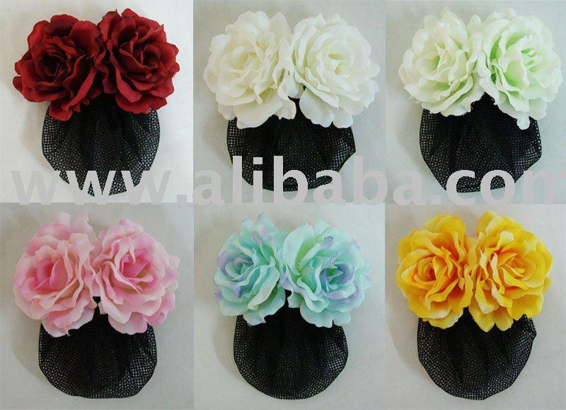 États Unis réflexions sur vente limitée Rose Fleur Barrette Pince À Cheveux Avec Snood Net - Buy Barrette Pince À  Cheveux Avec Filet Snood Product on Alibaba.com