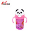 330ml panda shaped baby sippy cup training cup with handle