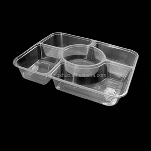 Food Use and Pulp Moulding Process Type 5 compartment lunch trays