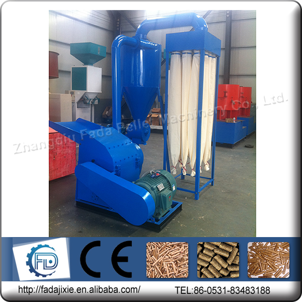 Best price 1.5-2 T/h wood chips type well used hammer mill