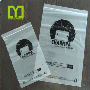 2018 Yiwu Mingyue Suppliers Custom Wholesale Printed Cheap LDPE/HDPE zipper paper bag