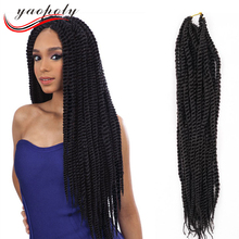 Factory cheap Senegal braids box braids 3X braids synthetic hair afro havana mambo twist crochet