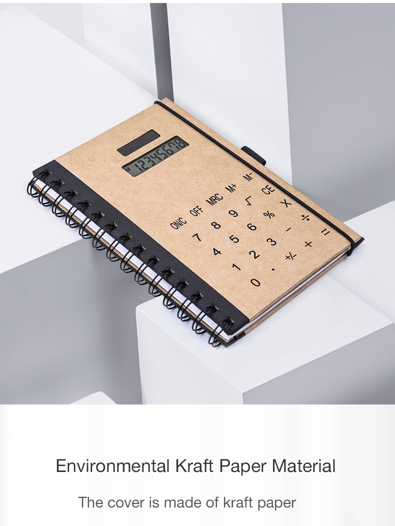 Life Working Learning Record Large Size Calculator 1 Piece Sample Desktop Annual Diary Calculator Ecofriendly