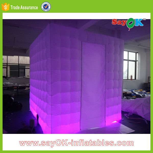 White Inflatable Led Lights Curved Wall Partition Wall For