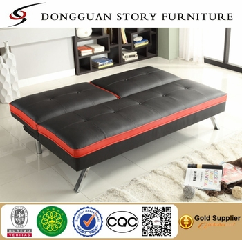 Black Klik Klak Sofa With Adjule Back Futon Bed Sleeper