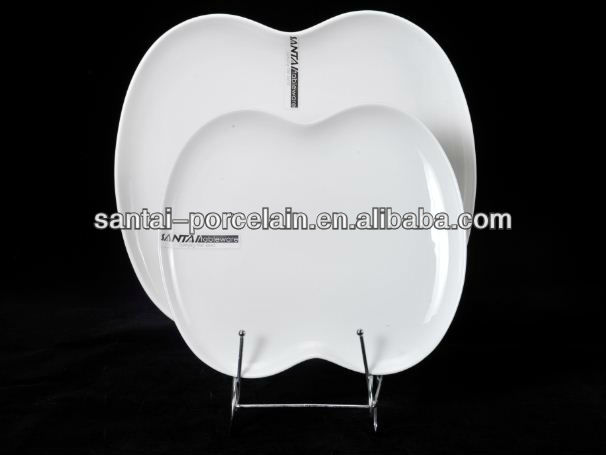 Dishwasher Safe , BA0980 Apple Shape Reinforced Melamine Plate