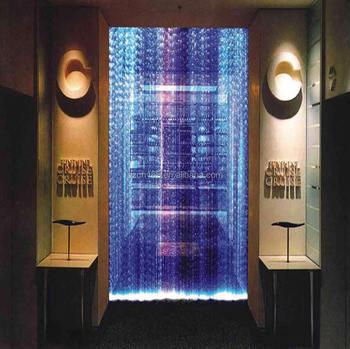 Indoor Decorative Fiber Waterfall Light Curtain Water Rain