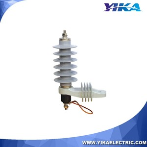 Wenzhou Yika 12KV Lighting Power Arrestor Current Of Surge Arrester