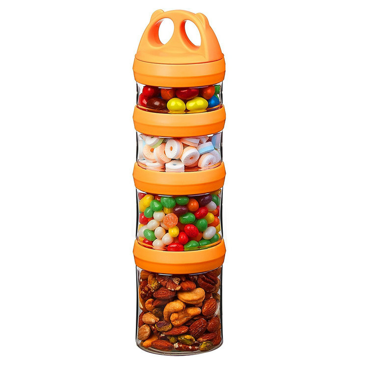 Hot Sale Practical candy jar plastic <strong>container</strong> with lid