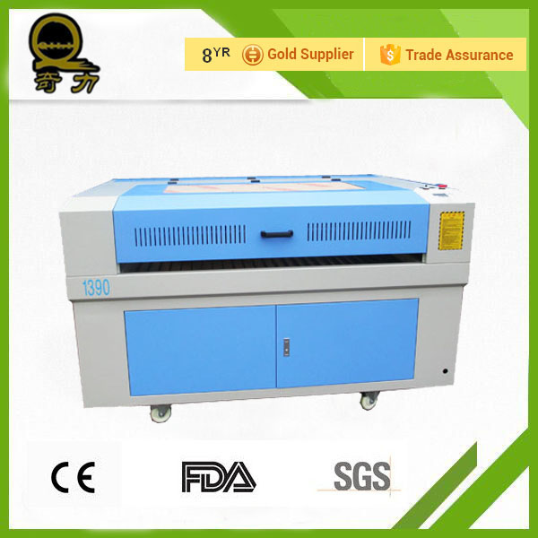 2016 QL brand popular china laser cutting machine for textil with stepper motors,CW5000 water chiler