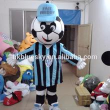 Bswm68 Blau Kleidung Fussball Boy Maskottchen Kostum