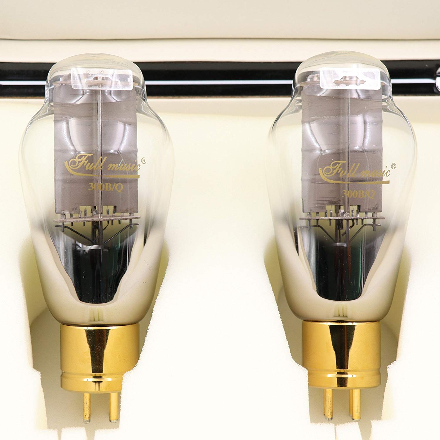 TJ Fullmusic New Matched Pair Premium 300B/Q Vacuum Tube Replace 300B Unique Metal Plate Fantastic Sound