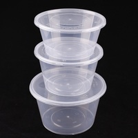Eco-friendly Food Box Plastic Round Food Storage Container With Lid