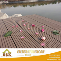 Wood Plastic Composite Panel WPC Floor Decking Outdoor Garden Floor Pest-resistant Anti-UV