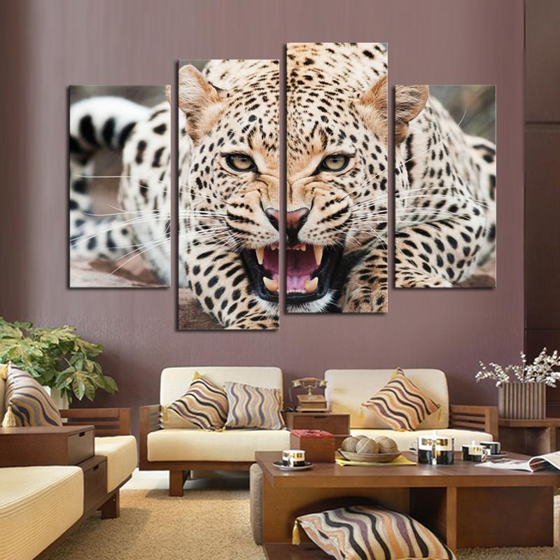 Leopard Print Living Room Decor Zion Star