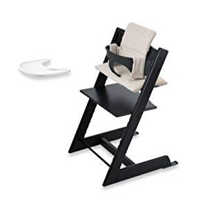 Get Quotations · Stokke   Tripp Trapp Bundle   Black High Chair, Black Baby  Set, Grey Loom