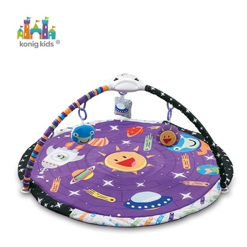 Kids Game Carpet Soft Cotton Round Crawling Mat Deluxe Charming Chirps Baby Discovery Play Activity Gym