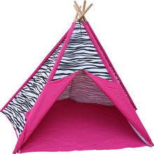 TP46 Zhejiang Tulip 100% cotton canvas fabric wholesale indoor kids camping teepee tent