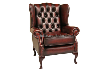 Antique Style Wing Back Sofa Chair Leather Sofa Single Sofa Used