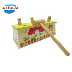 Wooden play hamster baby toys whack a mole from china