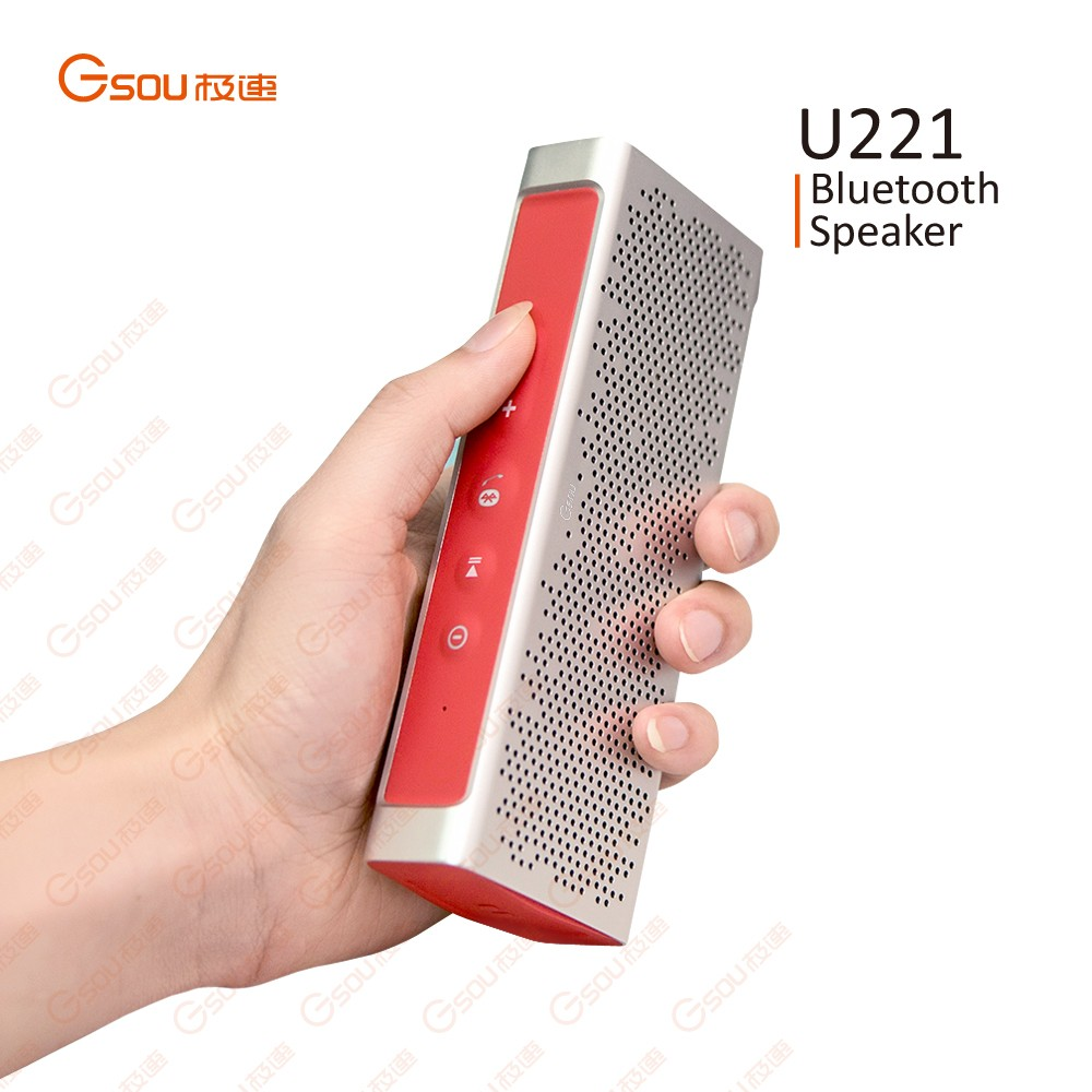 Exquisite Aluminium alloy finished bluetooth speaker of waterproof ipx5