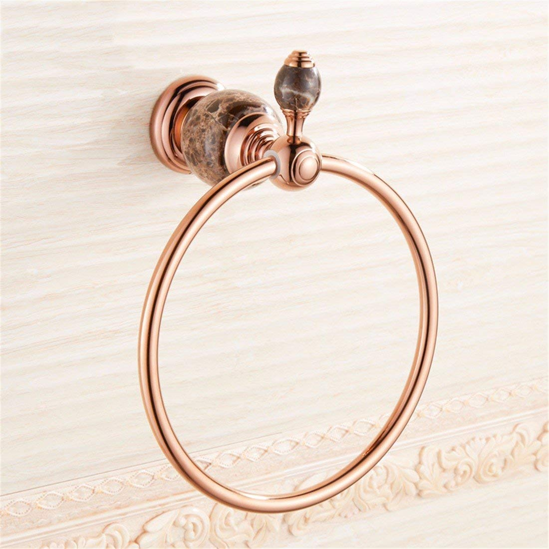 LAONA Continental antique rose gold black jade bathroom accessory kit towel bar toilet paper holder, Towel Ring