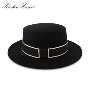 927a525b712eb Hot Selling 2018 New Design Fashion Wool Felt Fedora Flat Hat Wholesale