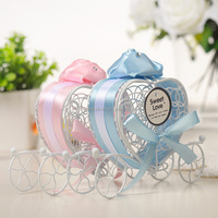 Wedding Favor Heart Shaped Metal Carriage Candy Boxes Decorations