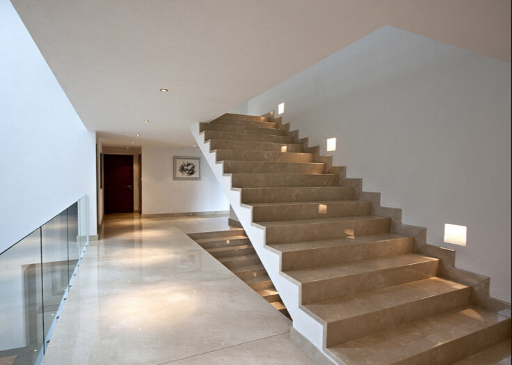New Design Marble Stairs Natural Stone Grey Marble Stairs