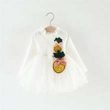 Nieuwe Ontwerp Ananas Fancy <span class=keywords><strong>Herfst</strong></span> Boutique Baby Girl Casual Dress