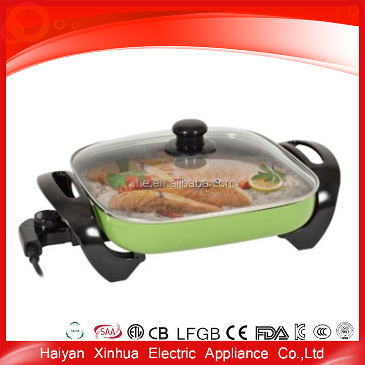 Simple style non stick cheap electric ceramic frying pan