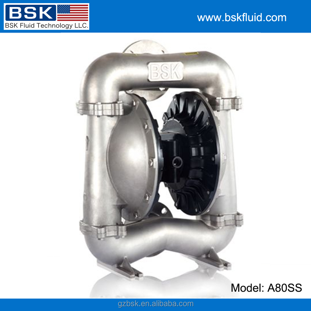 "BSK 3"" stainless steel 316 material chemical fluid aodd pump"