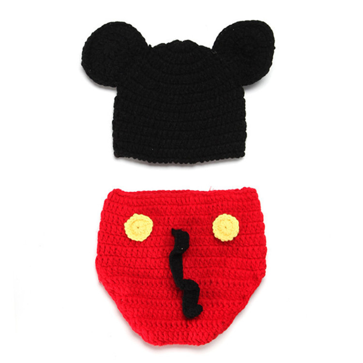 Hot selling cartoon red baby hat baby photography clothing