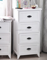 White painted wooden bedside table modern cheap bedroom furniture
