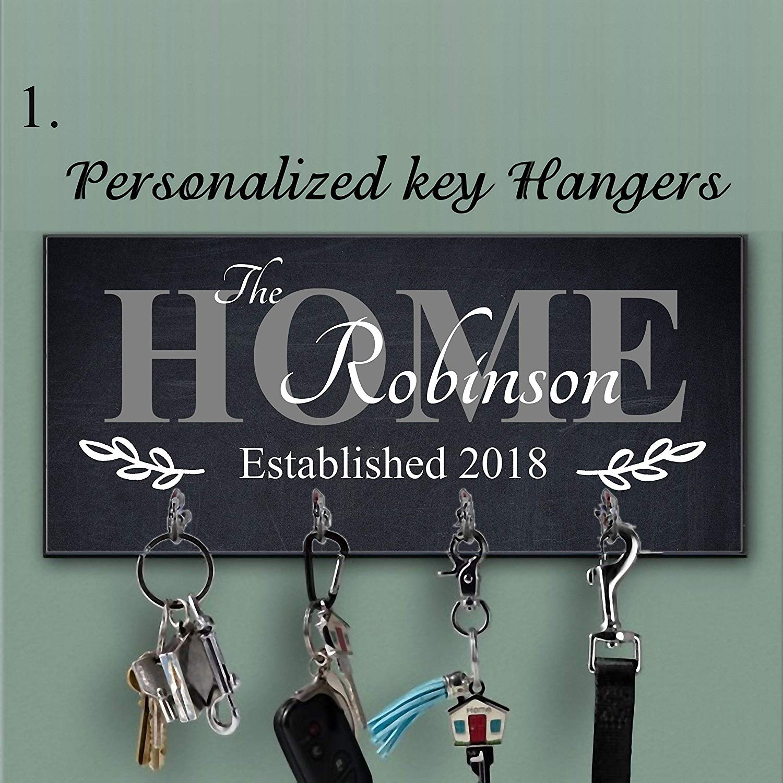 Black key holder for wall, Key Hanger, Wall Key Rack, Family custom key hanger, Personalized Wood Key Holder For Wall, Last name key rack, Housewarming Gift, Wedding Gift, Personalized Gift, Home