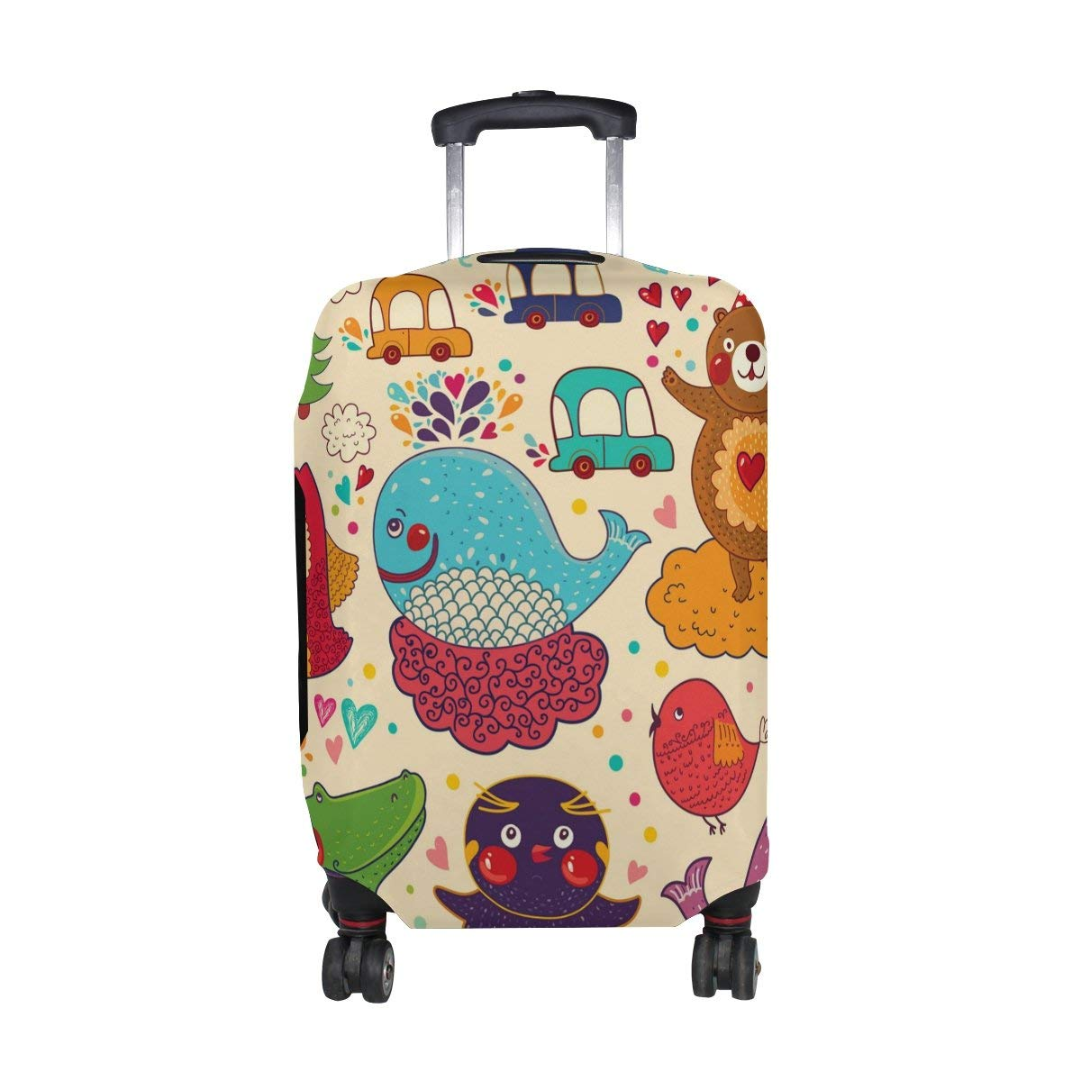 604248dea ALAZA Unicorn Whale Polyester Luggage Travel Suitcase Cover Case Protector