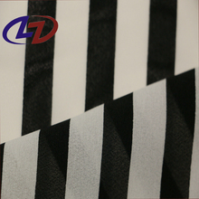 Black and White Stripe 100% Pure polyester Chiffon Dress Fabric