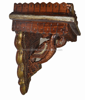 Indian Vintage Home Decorative Design Wooden Hand Carved Wall ...
