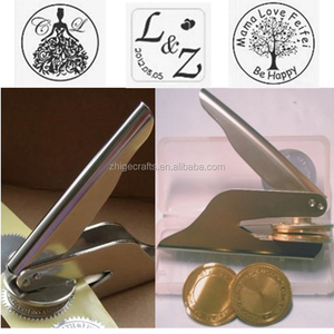 Portable custom embossing seal stamp for wedding and certificate